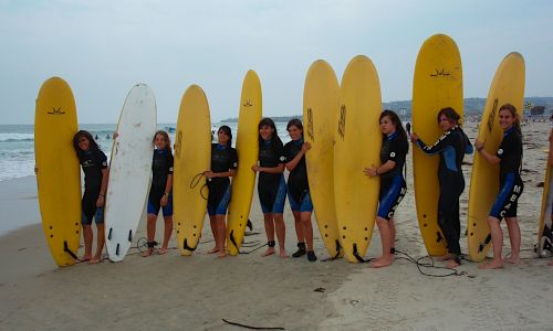 Spanish summer camps - surfing in Santander