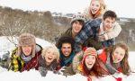 año escolar en Canadá - estudiantes en la nieve