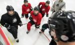 student exchange in canada - Hockey Practice by Students at High school