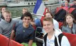 student exchange in France - International Students during boat trip in Paris
