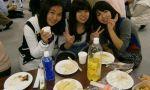 exchange program in japan - Exchange students having a traditional japanese dinner