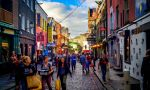 Private English courses in Dublin - studnets enjoying a lively city