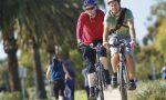 Private English courses in Melbourne - biking with teacher